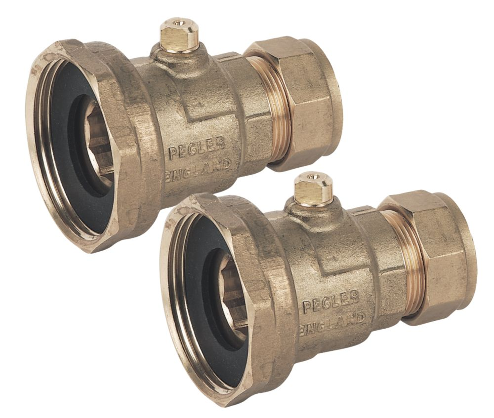 "Pegler Pump Valves 22mm x 1½"" 2 Pack"