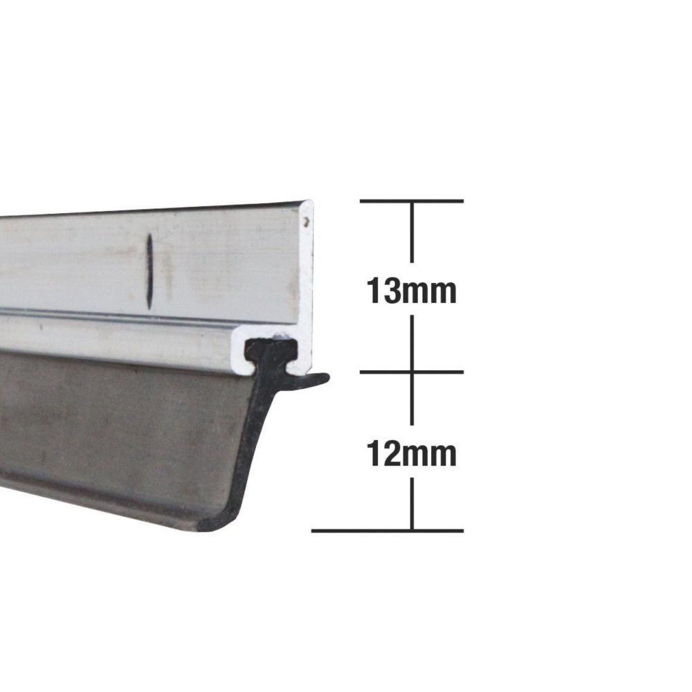 Stormguard Heavy Duty Around Door Strips Aluminium 1.02m 5 Pack