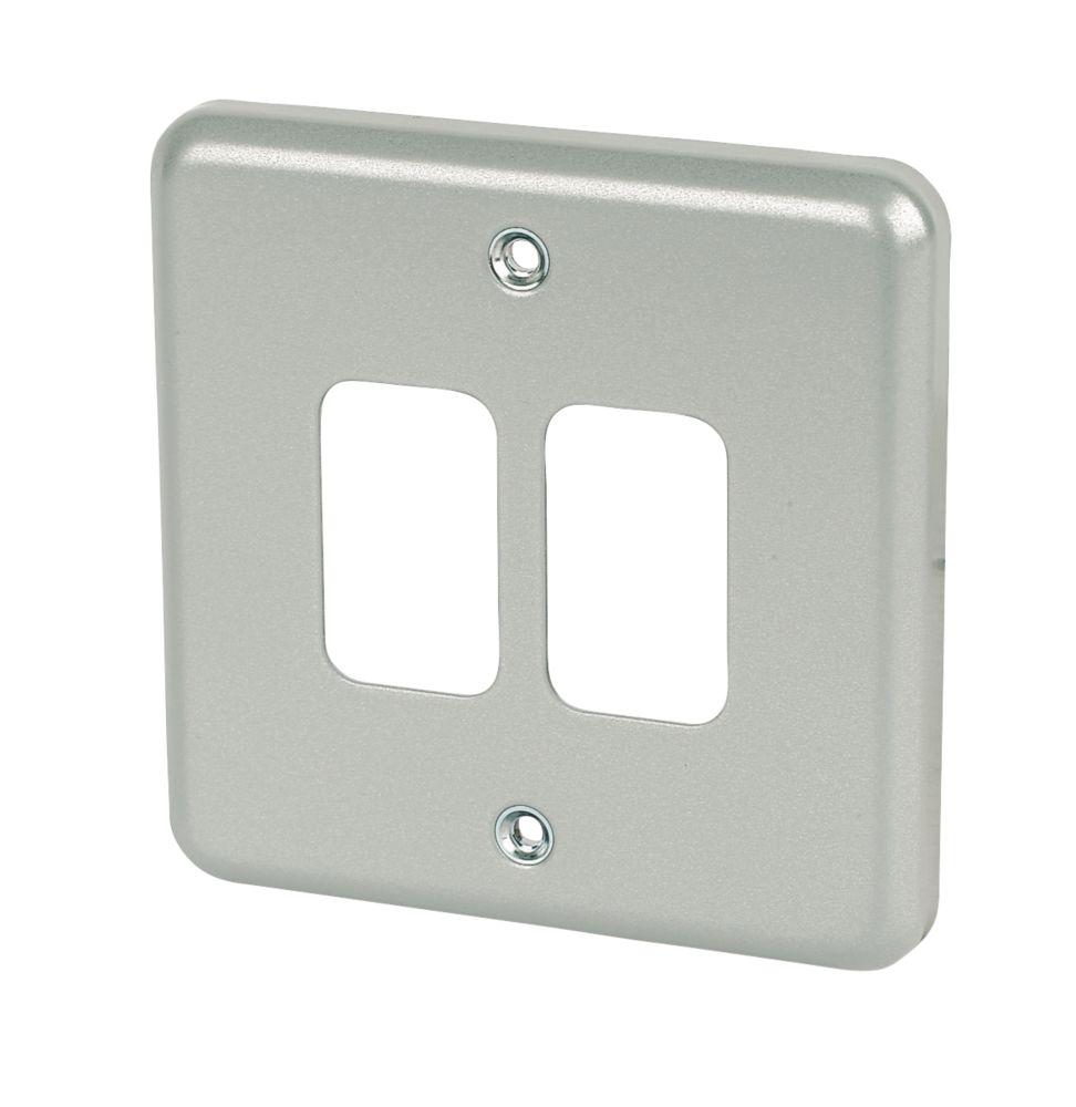 MK 2-Gang Front Plate Metal-Clad