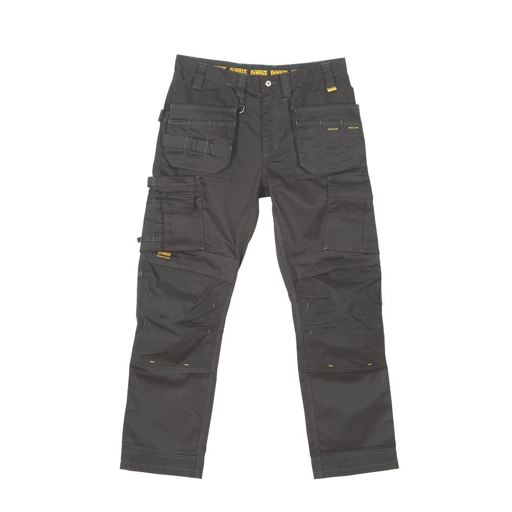 "DeWalt Thurlston Pro Stretch Work Trousers Black 34"" W 31"" L"