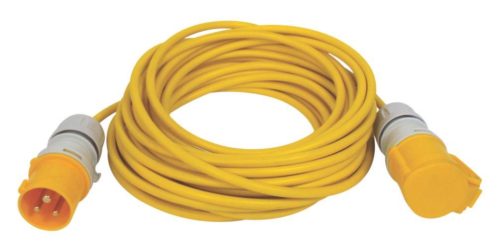 Carroll & Meynell 110V Extension Lead Yellow 2.5mm x 14m