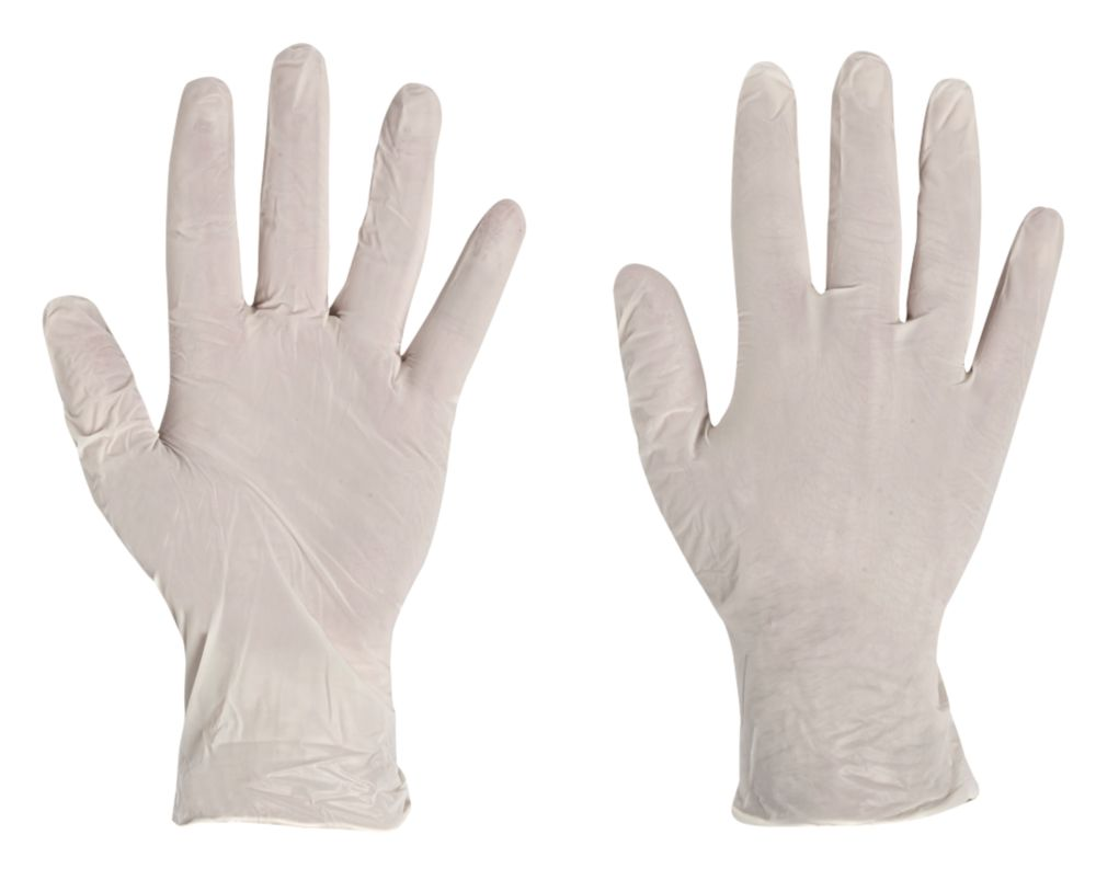 Polyco Finity Vinyl Powder-Free Disposable Gloves Natural Large 100 Pack