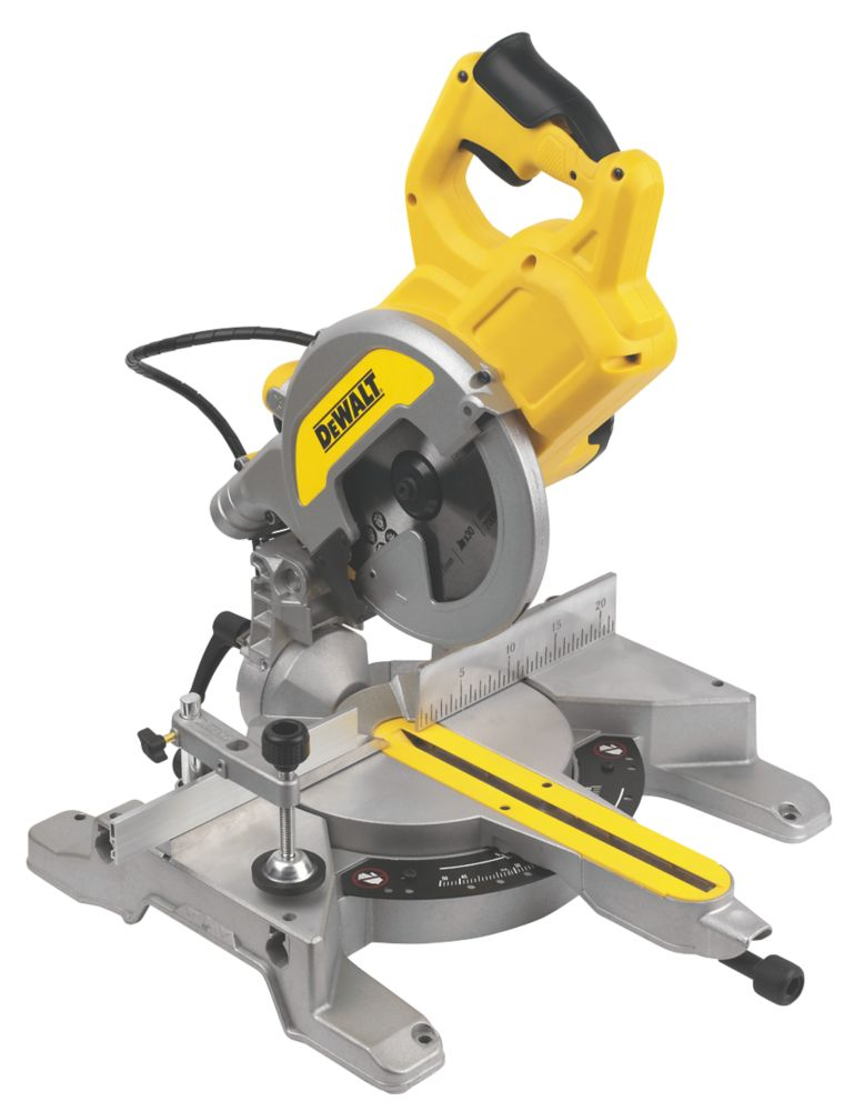 DeWalt DWS777-GB 216mm  Electric Single-Bevel Sliding XPS Compound Mitre Saw 240V