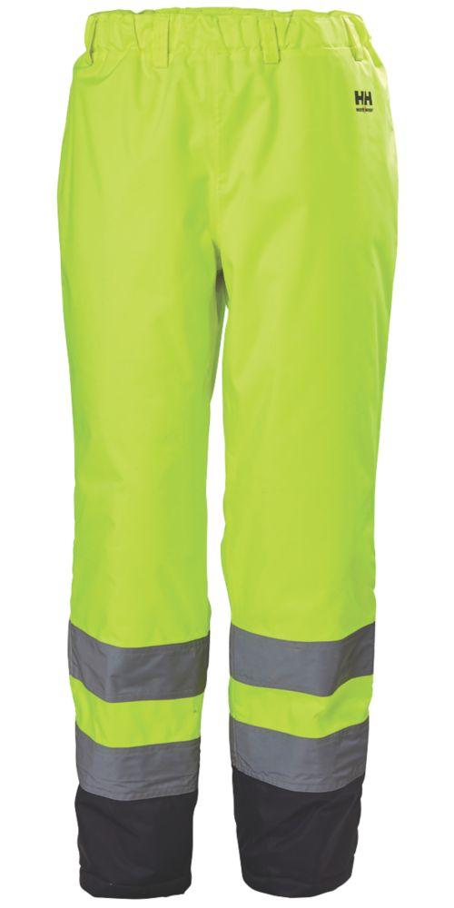 "Helly Hansen Alta Hi-Vis Trousers Drawcord Elasticated Waist Yellow Medium 33-34"" W 32"" L"