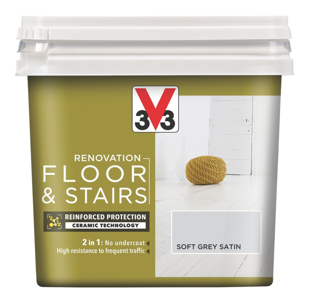 V33 Floor & Stair Paint Loft Grey 750ml