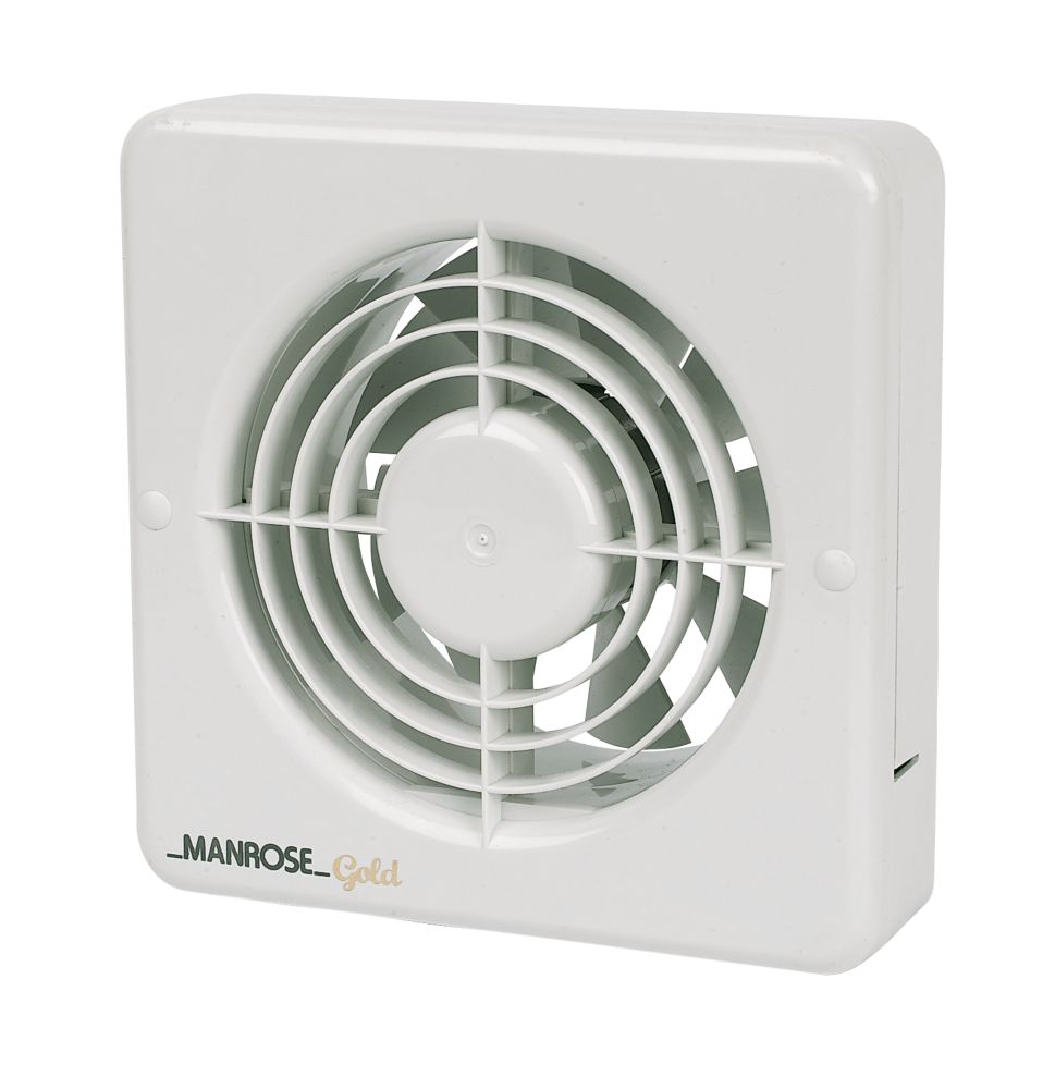 Manrose MG150BS 25W Kitchen Extractor Fan  White 240V
