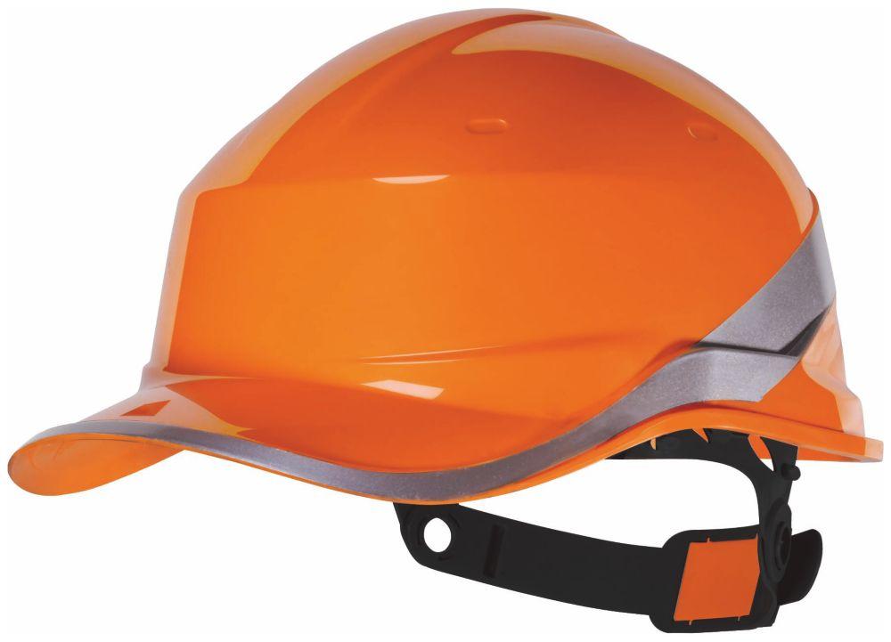 Delta Plus Diamond V Premium Push-Button Safety Helmet Orange
