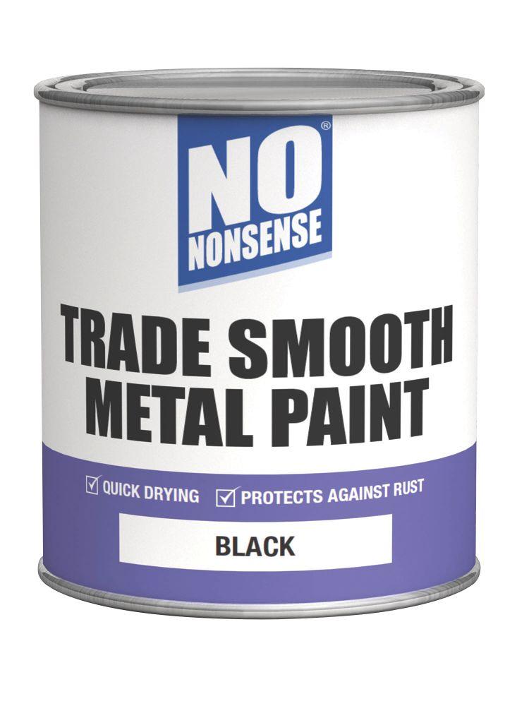 No Nonsense Quick-Dry Smooth Metal Paint Black 750ml