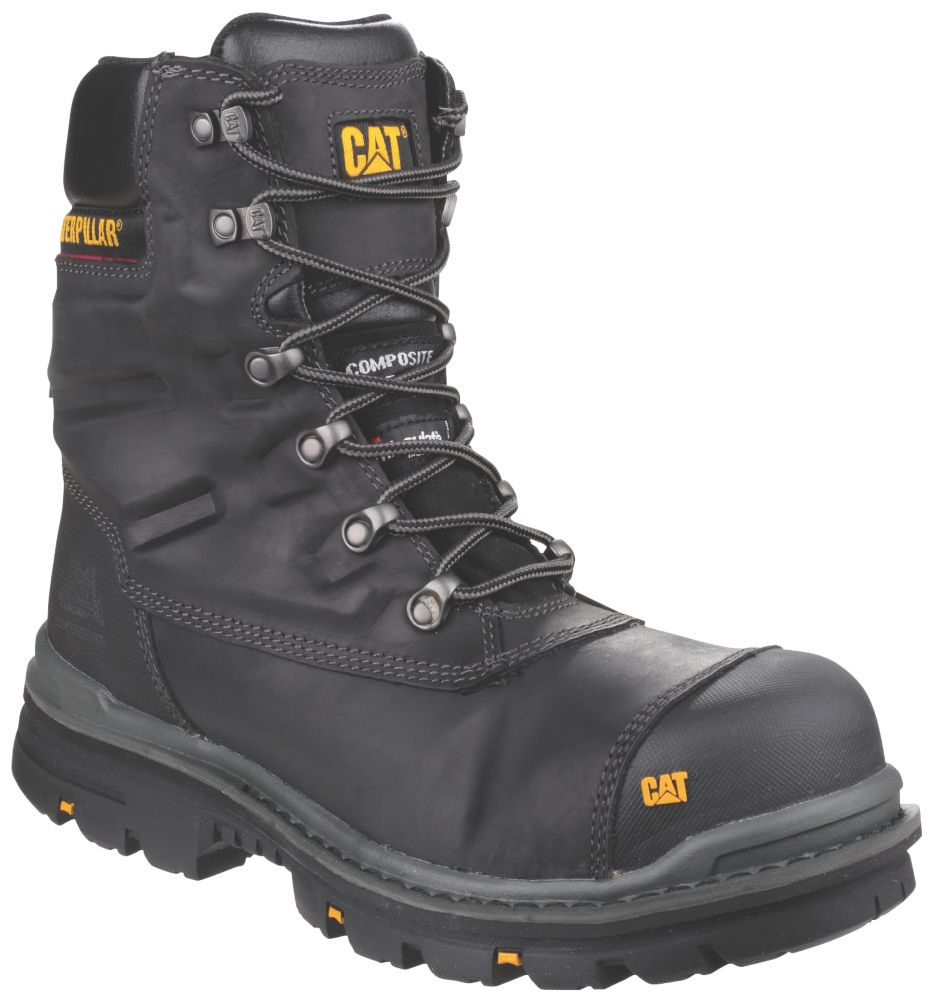 CAT Premier Metal Free  Safety Boots Black Size 8