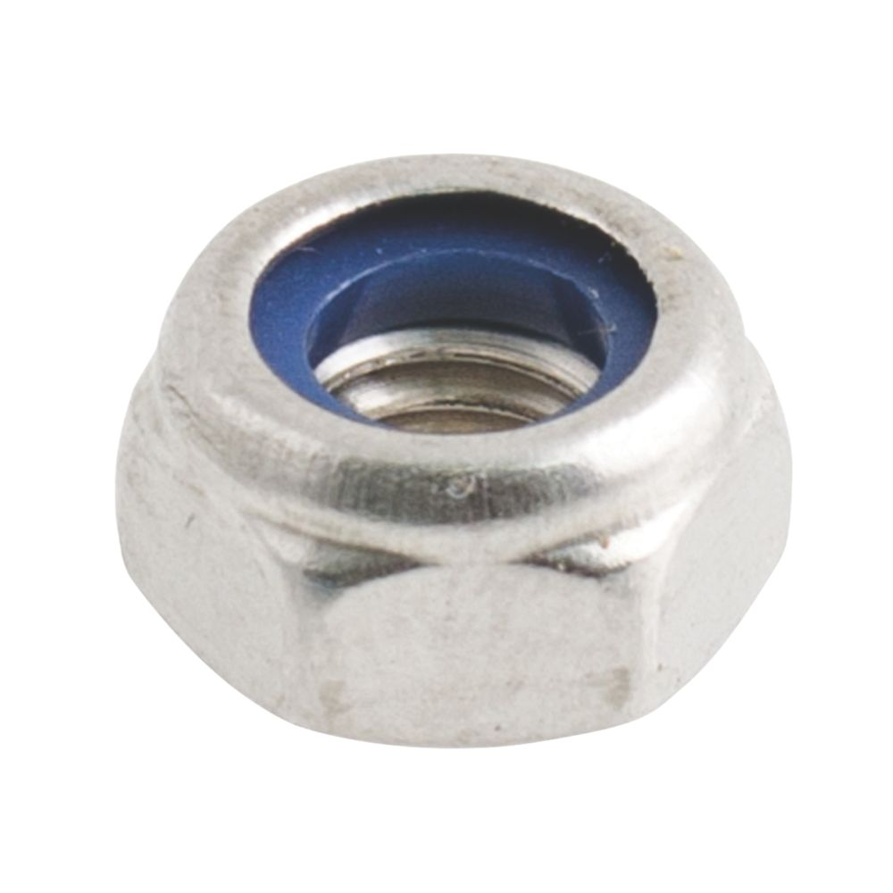 Easyfix A2 Stainless Steel Nylon Lock Nuts M4 100 Pack
