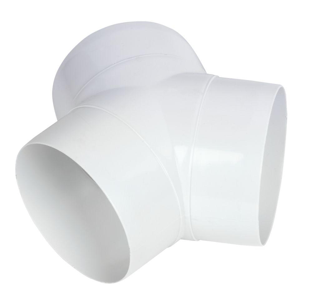 Manrose Circular 'Y' Piece Connector White 100mm