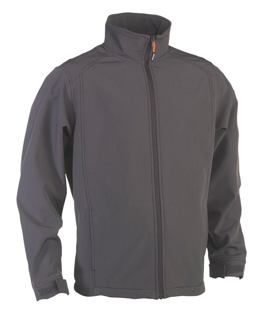 """Herock Julius Softshell Jacket Grey Large 47"""" Chest"""