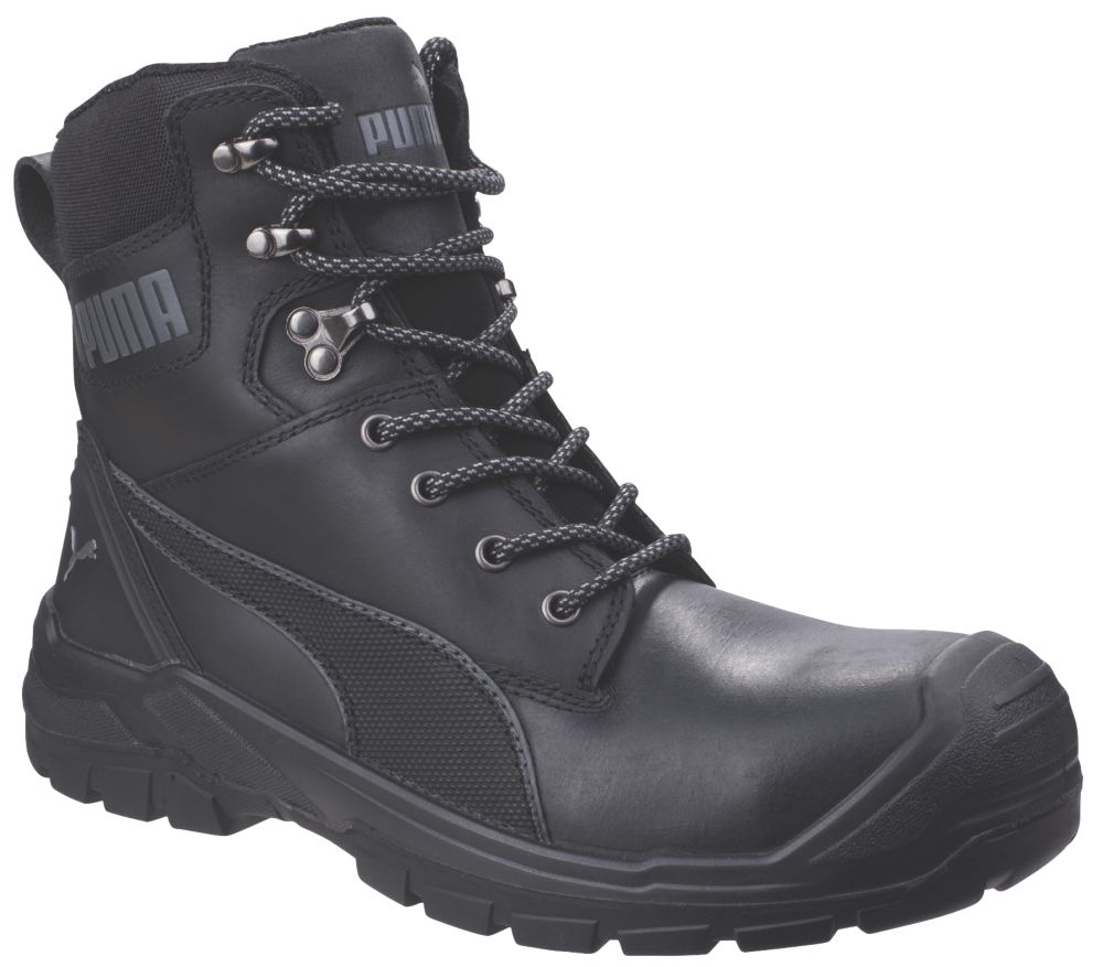 Puma Conquest Metal Free  Safety Boots Black Size 8