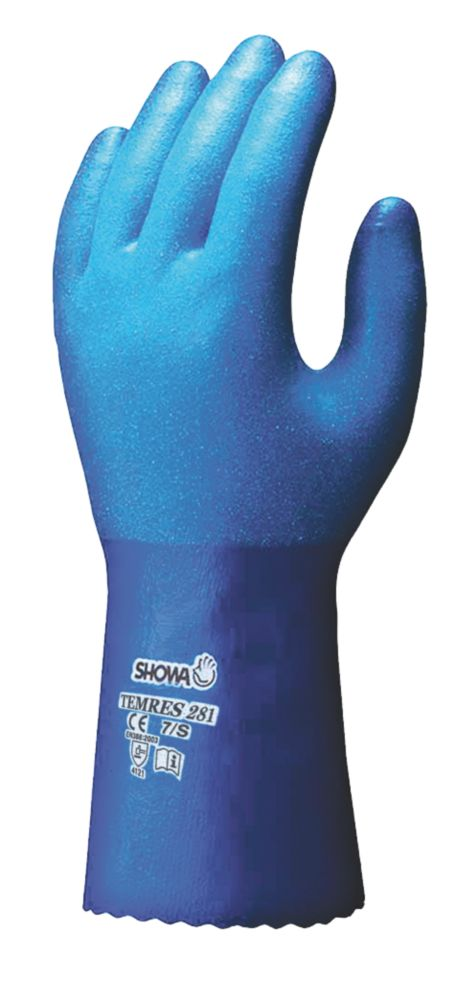 Showa 281 Temres Gauntlets Blue X Large