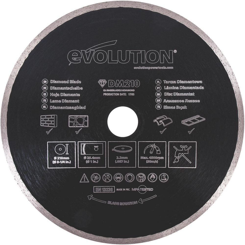 Evolution  Masonry/Stone Diamond Blade 210 x 25.4mm
