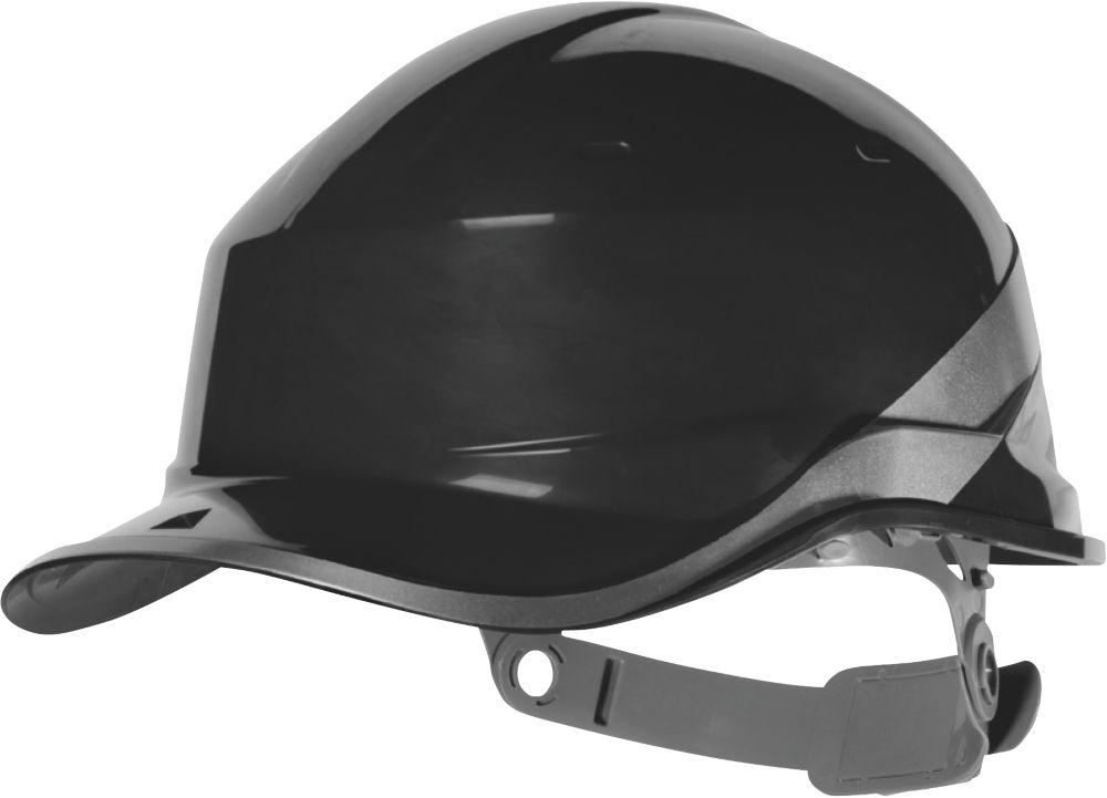 Delta Plus Diamond V Premium Push-Button Safety Helmet Black