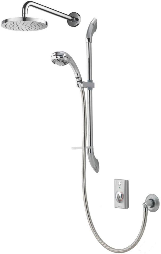 Aqualisa Visage HP/Combi Rear-Fed Dual Outlet Chrome Thermostatic Digital Shower with Diverter