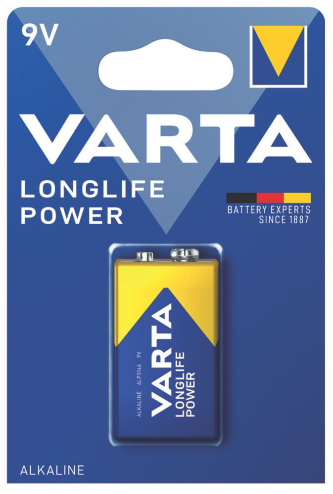 Varta Longlife Power 9V High Energy Batteries