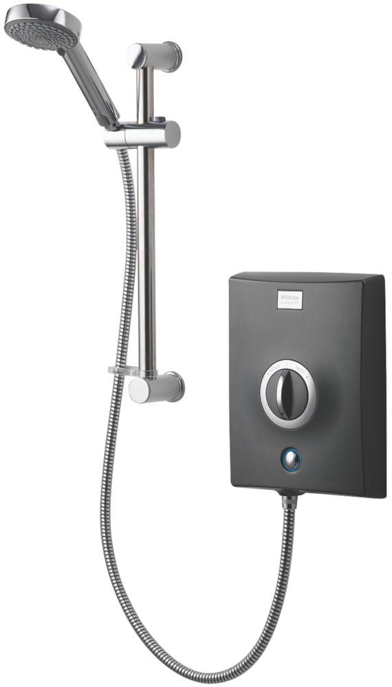 Aqualisa Quartz Graphite / Chrome 9.5kW  Electric shower