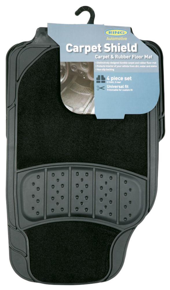Ring  Ultra Shield 5000 Universal Car Floor Mats 4 Pack