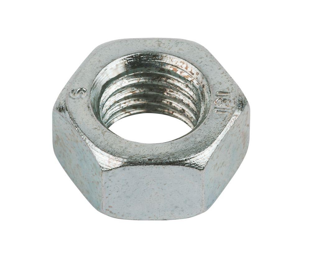 Easyfix BZP Steel Hex Nuts M16 50 Pack