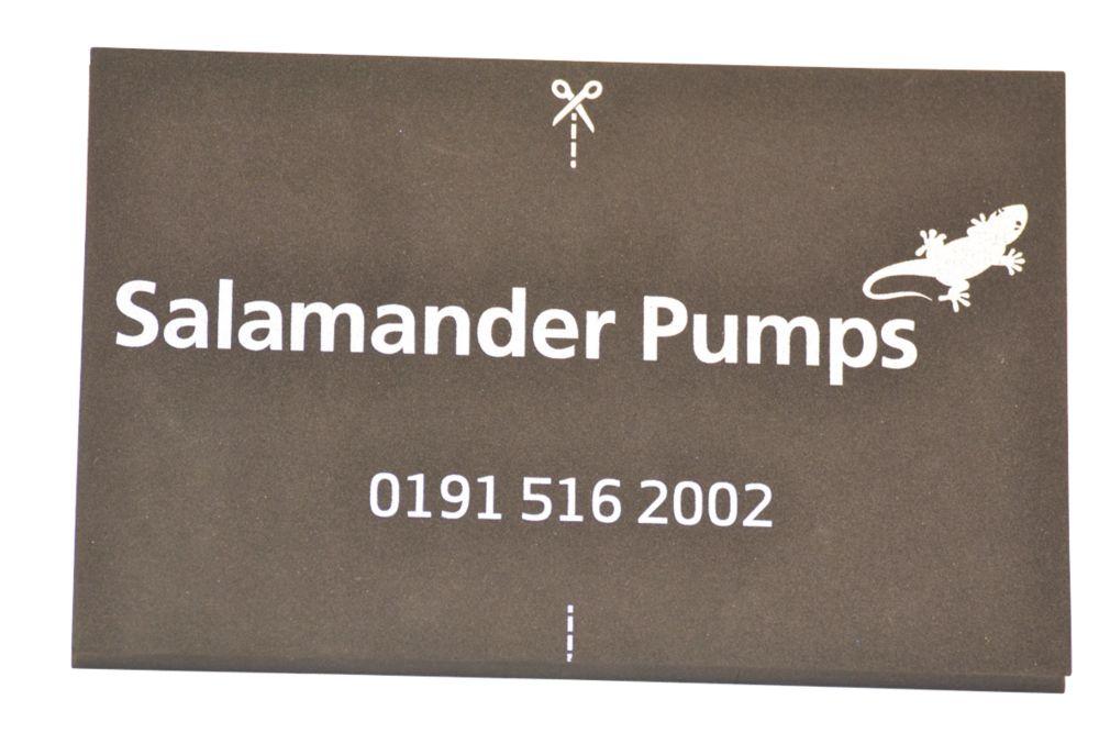 Salamander Pumps Shower Pump Mat Black 160 x 250mm
