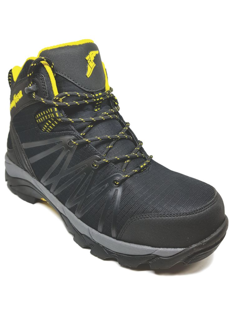 Goodyear GYBT1517   Safety Trainer Boots Black / Yellow Size 10