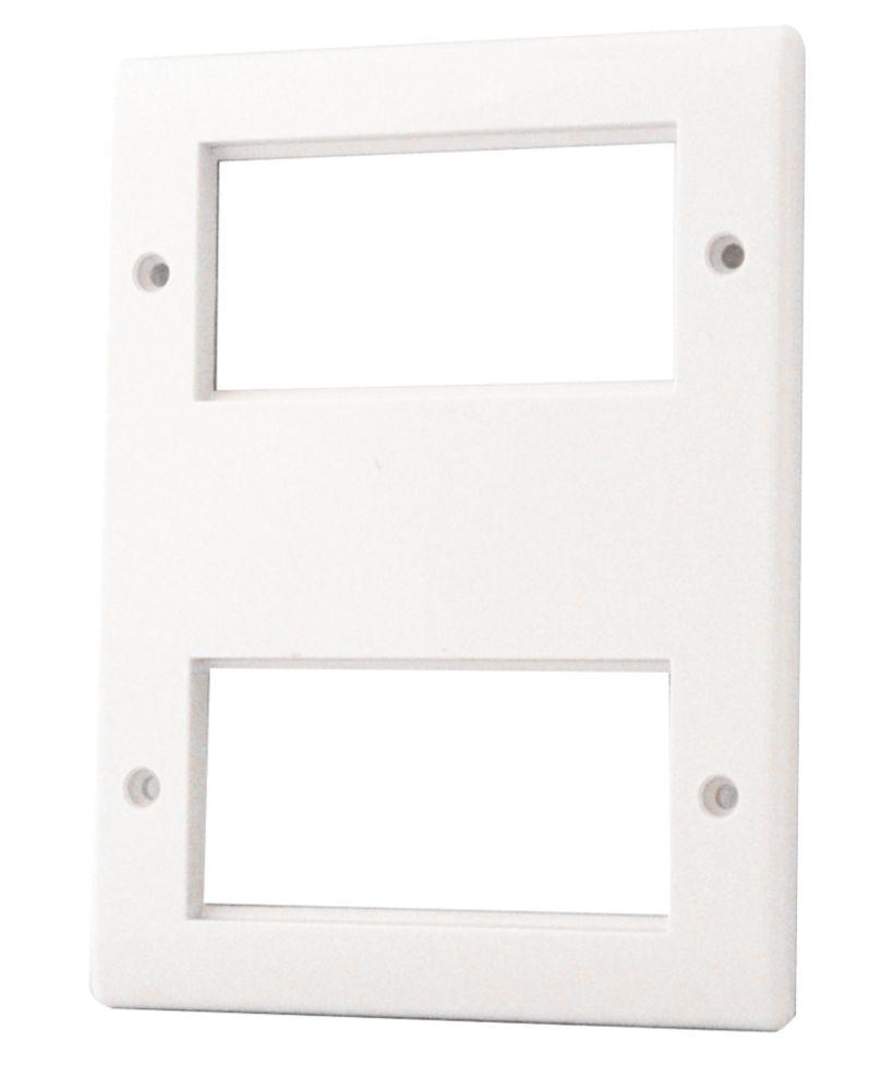 British General  8-Module Modular Faceplate White
