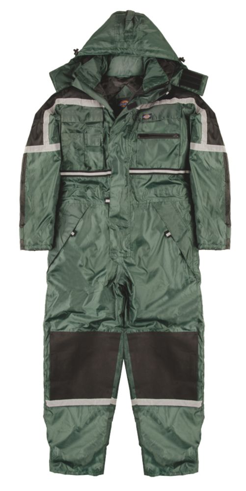 """Dickies  Waterproof Padded Coverall Green X Large 48-50"""" Chest 32"""" L"""