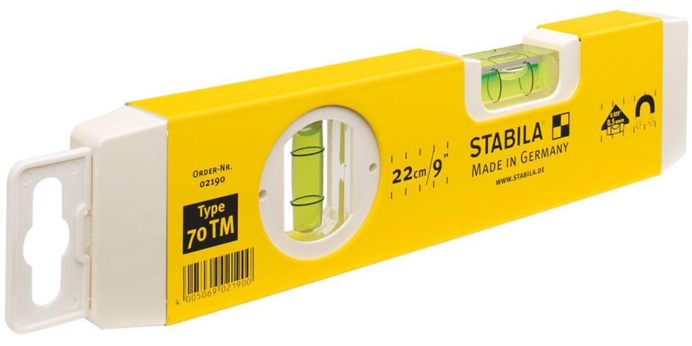 """Stabila 70TM Magnetic Torpedo Spirit Level 9"""" (220mm)"""