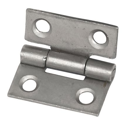 Eclipse Self-Colour  Steel Fixed Pin Hinges 25 x 22mm 2 Pack
