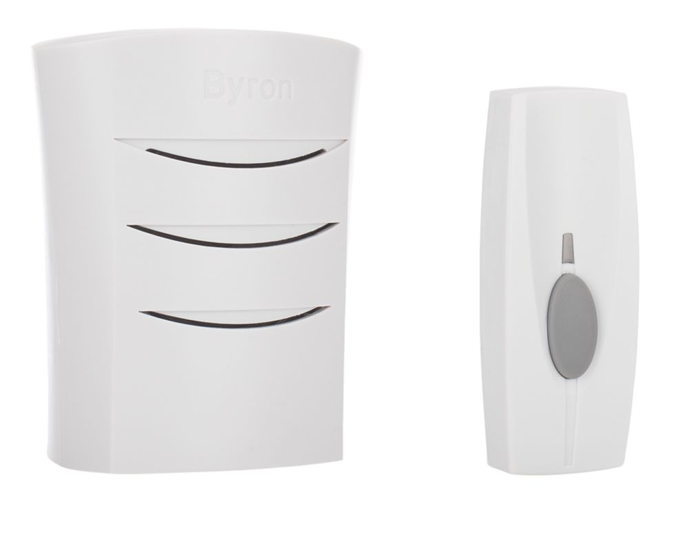 Byron   Wireless Doorbell Kit with Portable Chime White