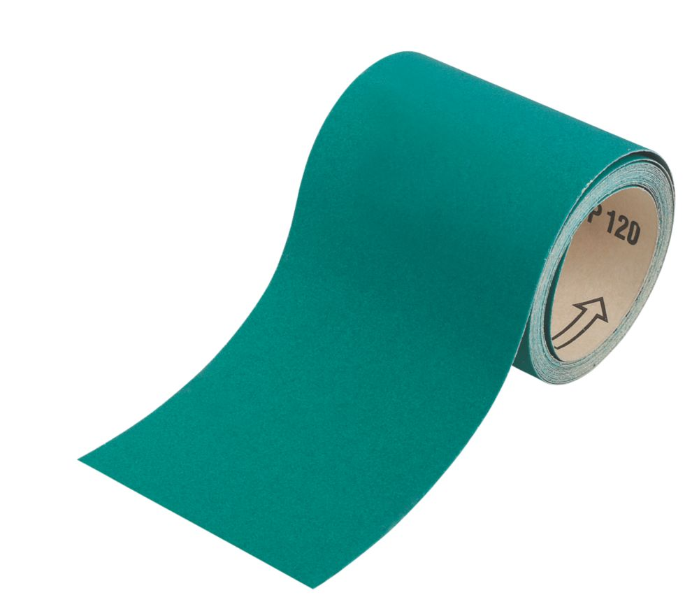 Oakey Liberty Green Sanding Roll Unpunched 5m x 115mm 80 Grit