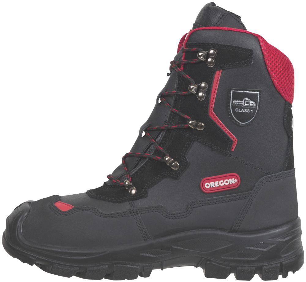 Oregon Yukon  Safety Chainsaw Boots Black Size 9.5