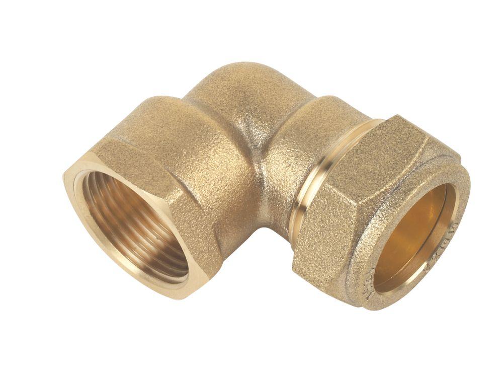 "Compression Adapting 90° Female Elbow 22mm x ¾"""