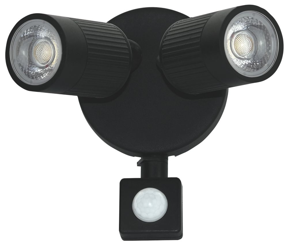 Luceco LEXWT7B40P LED PIR Outdoor Wall Light Black 720lm 10W
