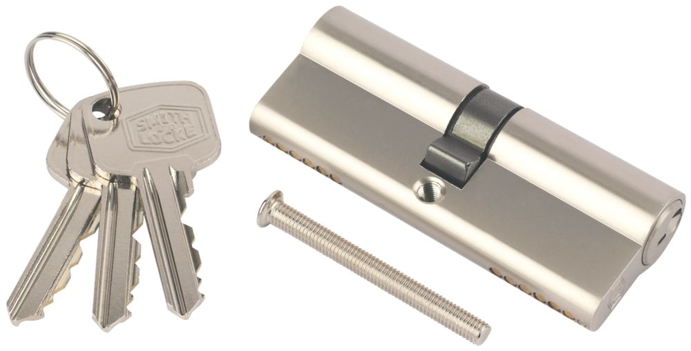 Smith & Locke 6-Pin Euro Cylinder 45-55 (100mm) Nickel
