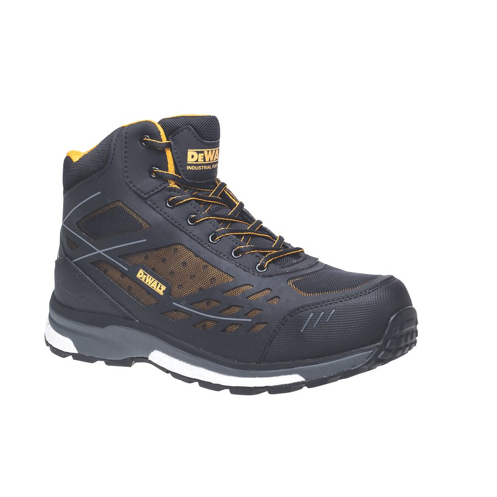 DeWalt Smithfield   Safety Trainer Boots Black / Brown Size 12