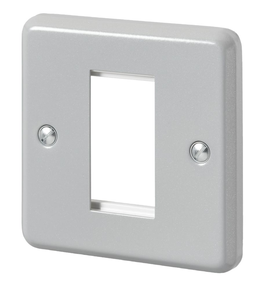 MK  2-Module Modular Faceplate Aluminium