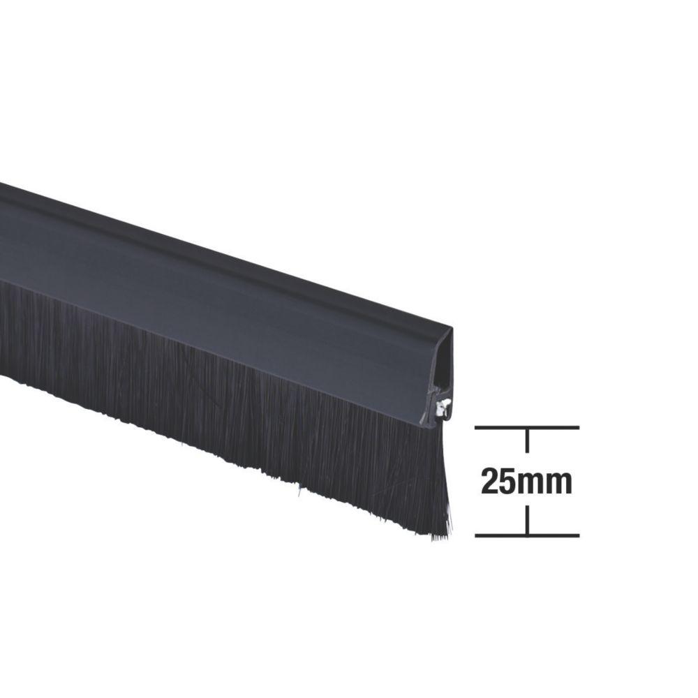 Stormguard Bottom Door Brush Draught Excluder Black 1m