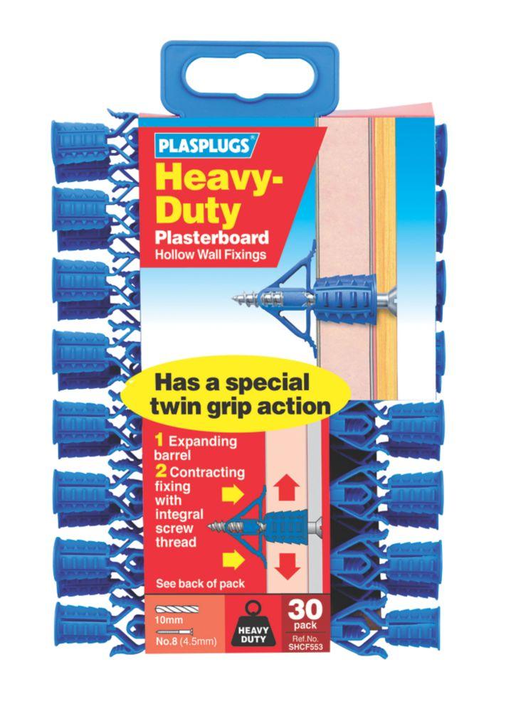 Plasplugs  Heavy Duty Plasterboard Fixings 10 x 36mm 30 Pack