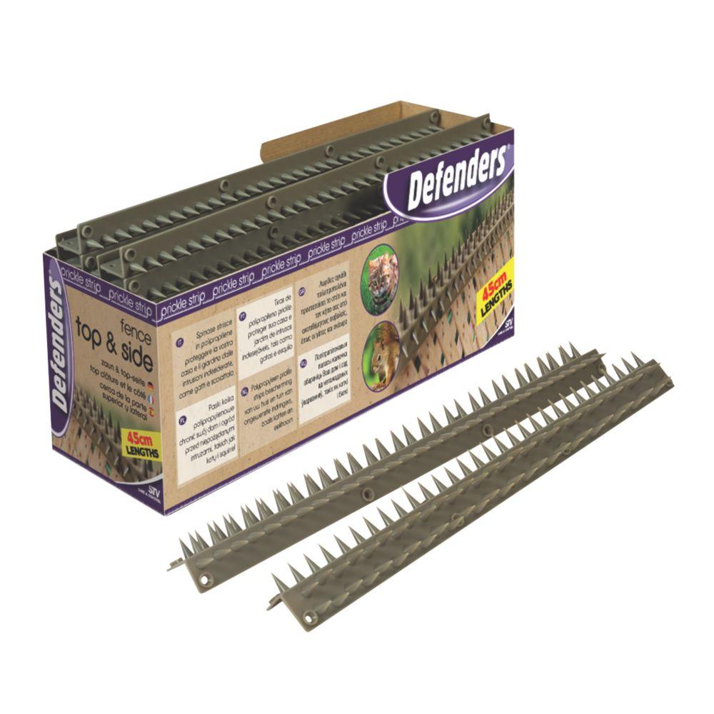 STV Pest Free Defenders Polypropylene Cats & Squirrels Fence Top L-Shape Prickle Strip 450mm 24 Pack