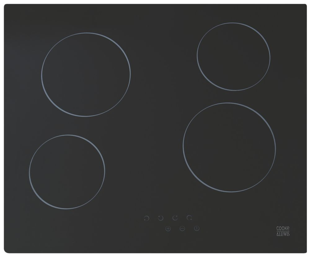 Cooke & Lewis CLCER60a Ceramic Hob Black 52 x 590mm