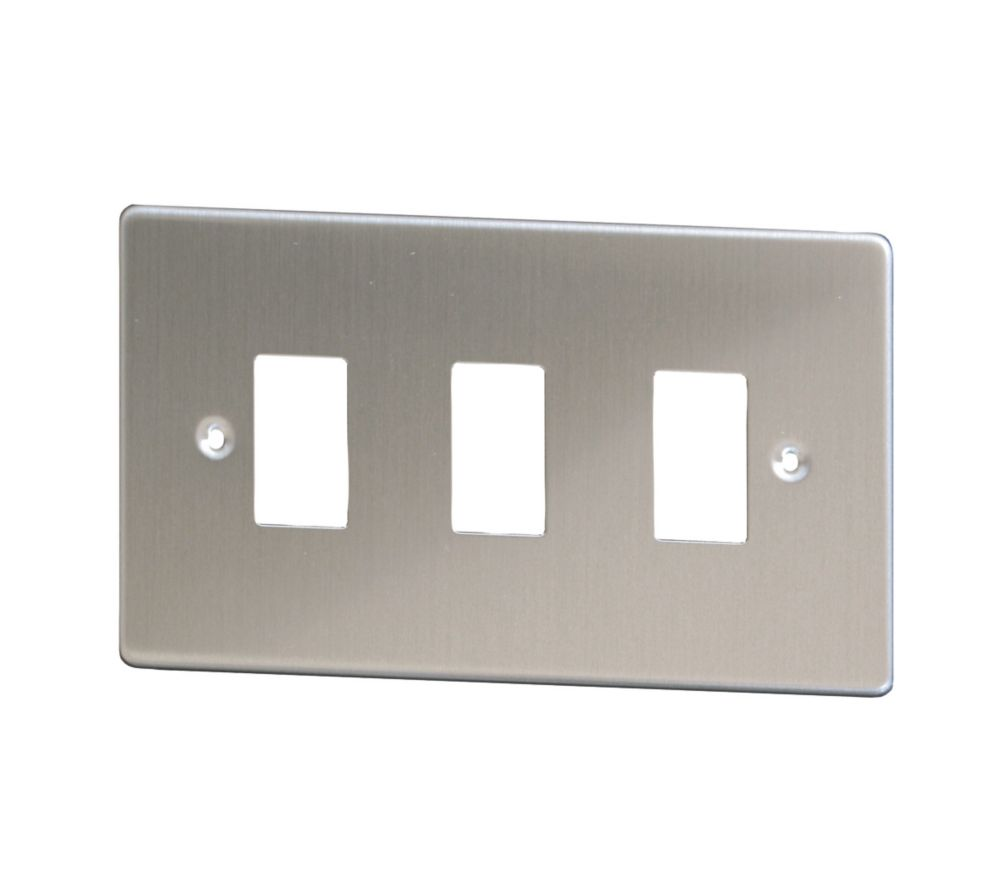Varilight XDSPG3 3-Gang PowerGrid Faceplate Metal