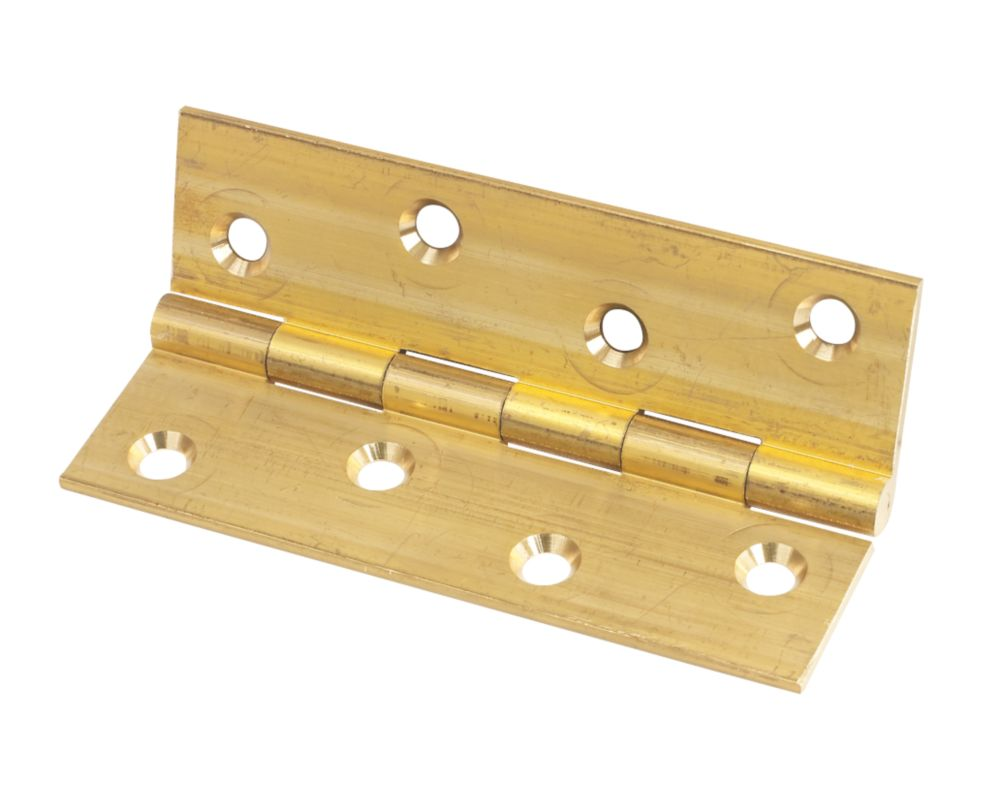 Self-Colour  Solid Drawn Brass Hinge 102 x 60mm 2 Pack