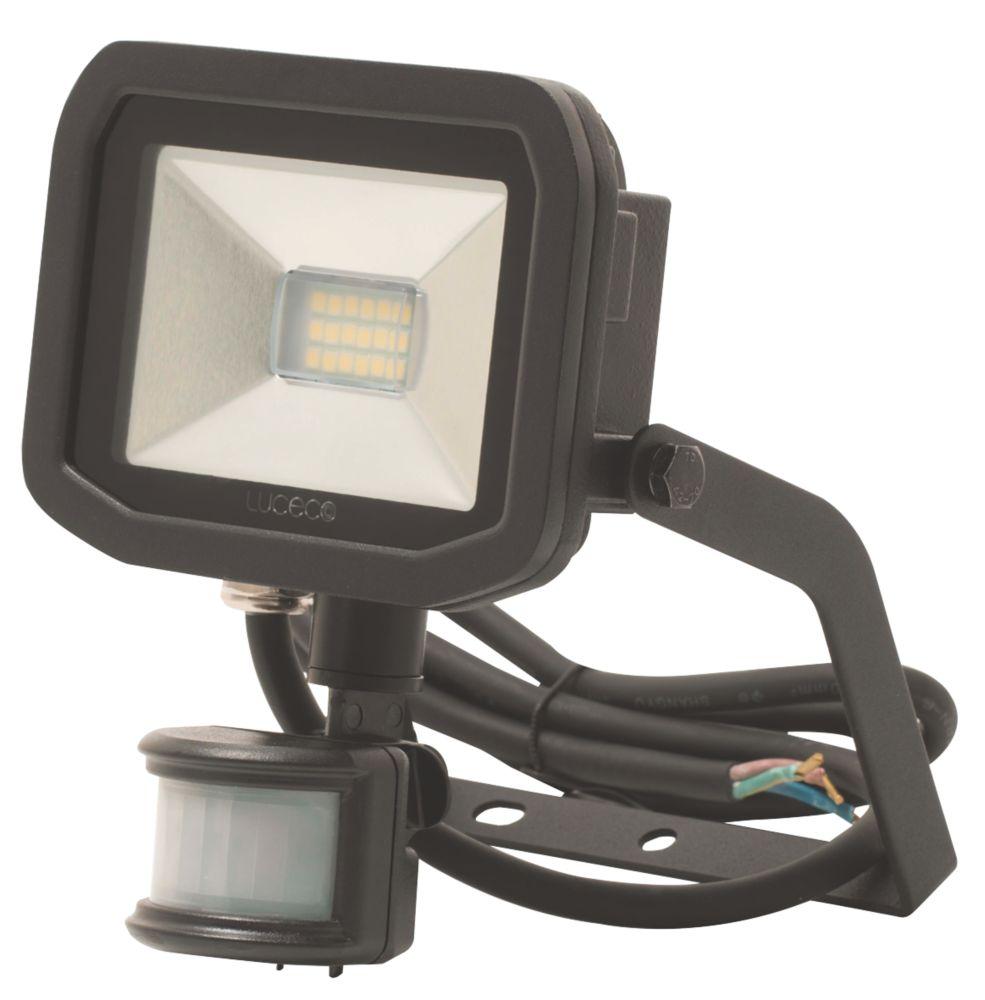 Luceco Guardian LED Floodlight & PIR Black 8W Warm White