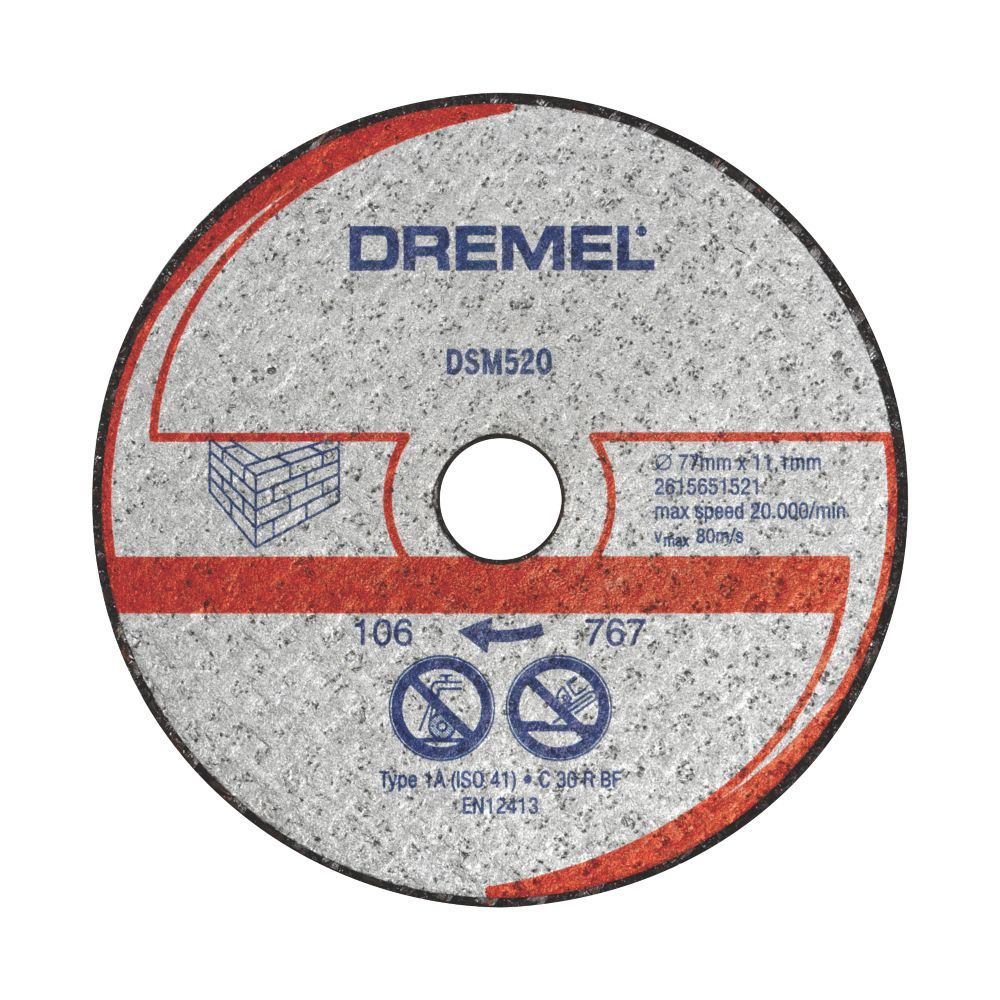 "Dremel Saw-Max Masonry/Stone Masonry Cutting Disc 2"" (55mm) x 5 x 11mm 2 Pack"