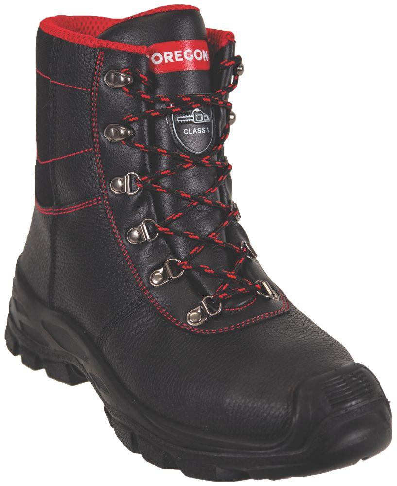 Oregon Sarawak  Safety Chainsaw Boots Black Size 8