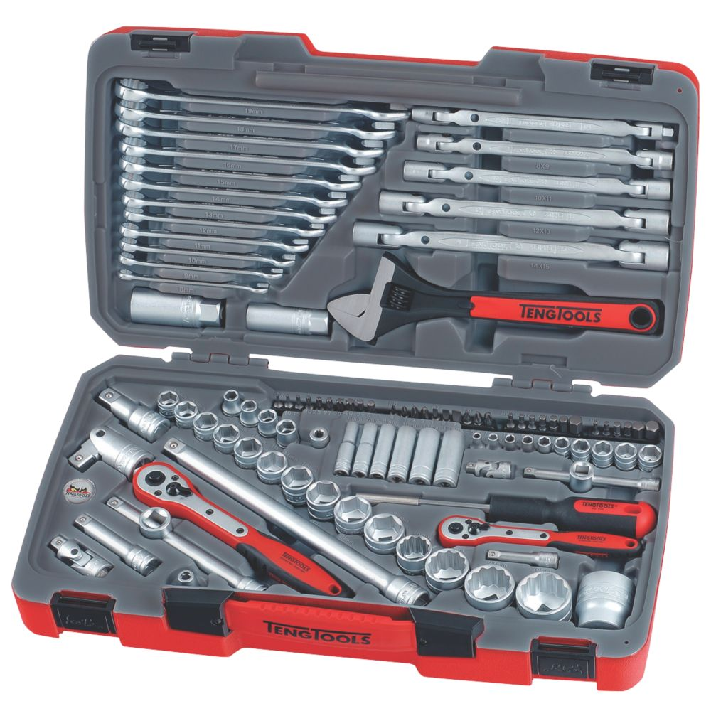Teng Tools  Mixed Drive Socket & Tool Set  106 Pieces