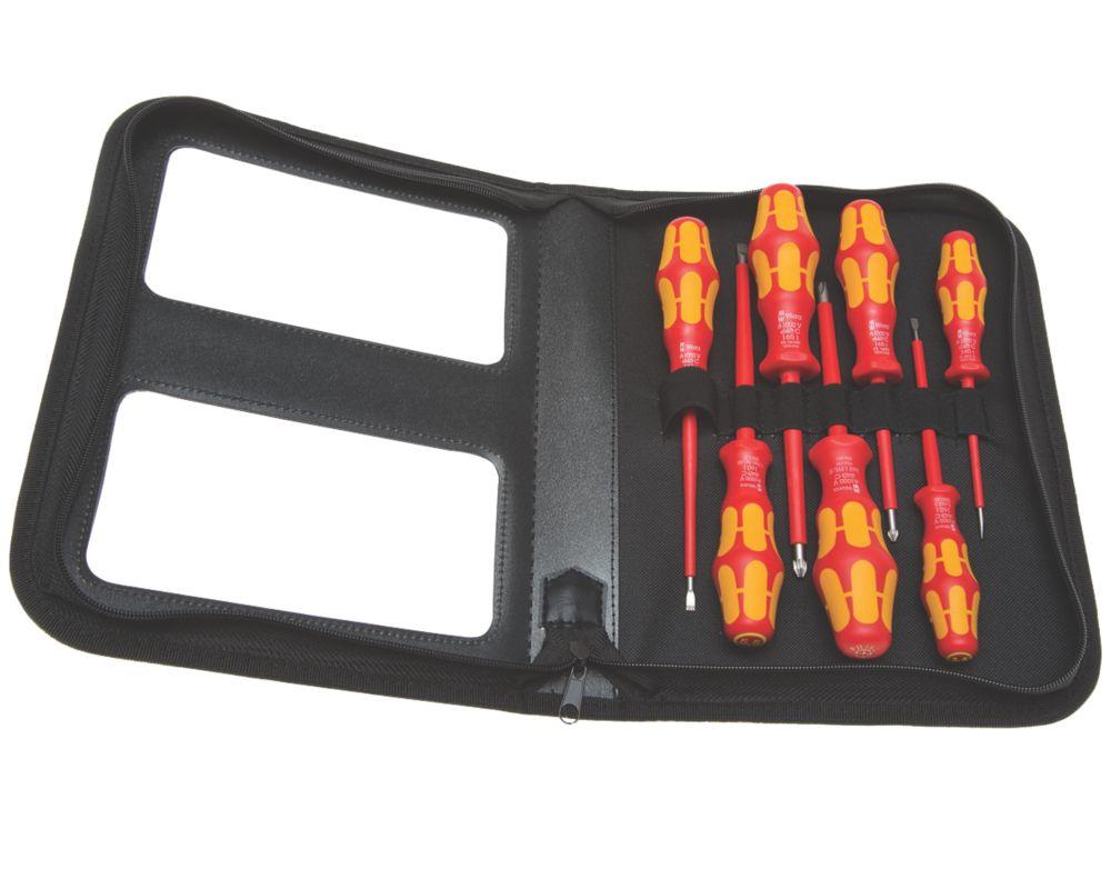 Wera Kraftform Plus Mixed  VDE Insulated Screwdriver Set 7 Pieces